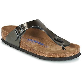 Παπούτσια Γυναίκα Σαγιονάρες Birkenstock GIZEH SFB Grey / Μεταλικό