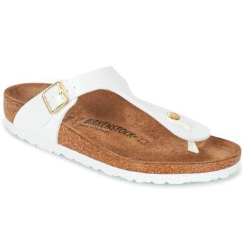 Παπούτσια Γυναίκα Σαγιονάρες Birkenstock GIZEH Άσπρο / Gold