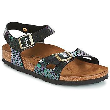 Παπούτσια Παιδί Σανδάλια / Πέδιλα Birkenstock RIO Black / Brillant / Serpent