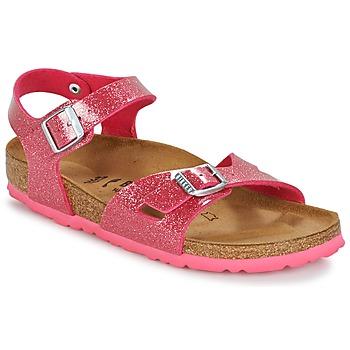 Παπούτσια Κορίτσι Σανδάλια / Πέδιλα Birkenstock RIO Ροζ / Pailleté