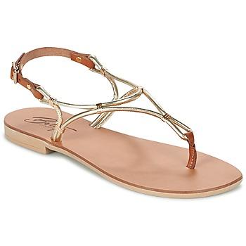 Παπούτσια Γυναίκα Σανδάλια / Πέδιλα Betty London GARDO Gold / CAMEL
