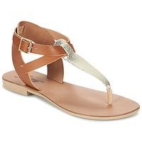 Παπούτσια Γυναίκα Σανδάλια / Πέδιλα Betty London VITAMO Camel / Gold