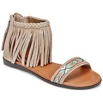 Παπούτσια Γυναίκα Σανδάλια / Πέδιλα Minnetonka MOROCCO Taupe