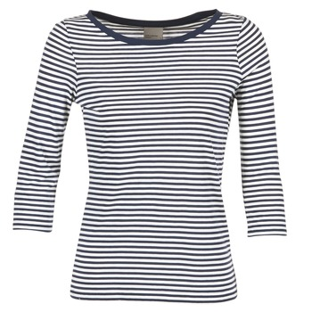 Υφασμάτινα Γυναίκα Μπλουζάκια με μακριά μανίκια Vero Moda MARLEY Marine / Άσπρο