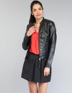 Υφασμάτινα Γυναίκα Δερμάτινο μπουφάν Vero Moda QUEEN Black