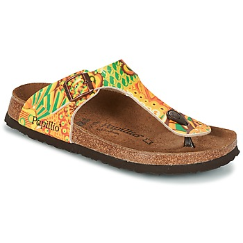 Παπούτσια Γυναίκα Σαγιονάρες Papillio GIZEH Yellow / Green