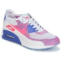 Παπούτσια Γυναίκα Χαμηλά Sneakers Nike AIR MAX 90 FLYKNIT ULTRA 2.0 W Άσπρο / Μπλέ / Ροζ