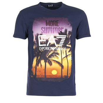 Υφασμάτινα Άνδρας T-shirt με κοντά μανίκια Emporio Armani EA7 TRAIN GRAPHIC μπλέ