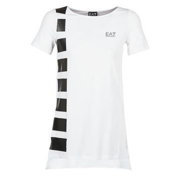 Υφασμάτινα Γυναίκα Τουνίκ Emporio Armani EA7 TRAIN MASTER άσπρο / Black