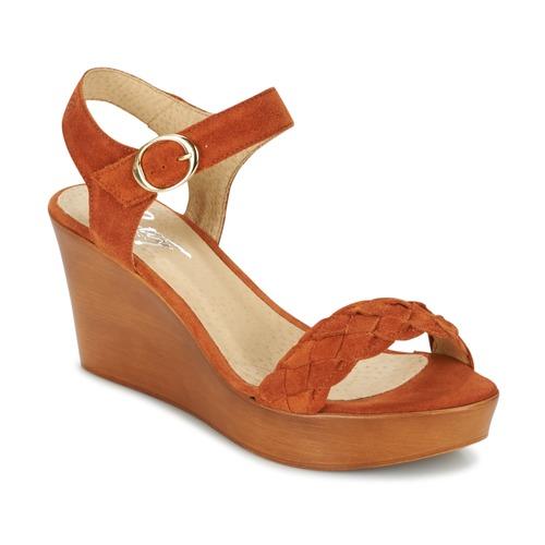Παπούτσια Γυναίκα Σανδάλια / Πέδιλα Betty London GIMI Rouille