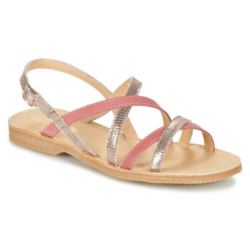 Παπούτσια Κορίτσι Σανδάλια / Πέδιλα Citrouille et Compagnie GENTOU ροζ / Silver
