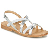 Παπούτσια Κορίτσι Σανδάλια / Πέδιλα Citrouille et Compagnie GENTOU Άσπρο / Silver