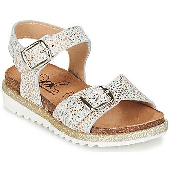 Παπούτσια Κορίτσι Σανδάλια / Πέδιλα Citrouille et Compagnie GAUFRETTE Gold / Άσπρο