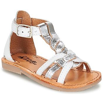 Παπούτσια Κορίτσι Σανδάλια / Πέδιλα Citrouille et Compagnie GITANOLO Άσπρο / Silver