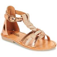 Παπούτσια Κορίτσι Σανδάλια / Πέδιλα Citrouille et Compagnie GITANOLO Beige / Cuivré