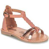 Παπούτσια Κορίτσι Σανδάλια / Πέδιλα Citrouille et Compagnie GUBUDU Ροζ / Gold