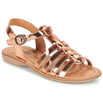 Παπούτσια Κορίτσι Σανδάλια / Πέδιλα Citrouille et Compagnie GROUFLA Bronze
