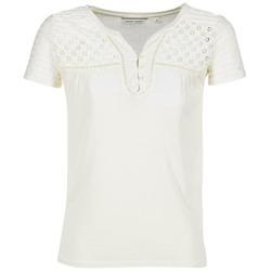 Υφασμάτινα Γυναίκα T-shirt με κοντά μανίκια Naf Naf OPARI ECRU