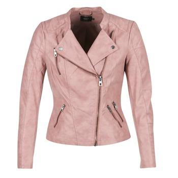 Υφασμάτινα Γυναίκα Δερμάτινο μπουφάν Only AVA ροζ