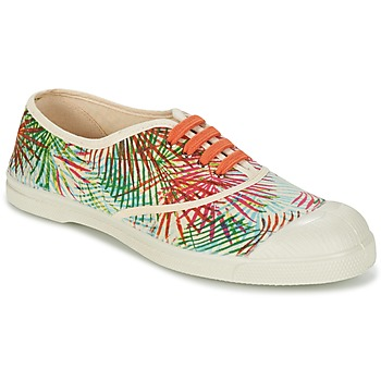 Παπούτσια Γυναίκα Χαμηλά Sneakers Bensimon TENNIS FEUILLES EXOTIQUES Ecru / Orange / Green