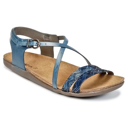 Παπούτσια Γυναίκα Σανδάλια / Πέδιλα Kickers ATOMIUM μπλέ / Imprimé