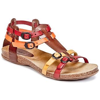 Παπούτσια Γυναίκα Σανδάλια / Πέδιλα Kickers ANA Brown / Red / Orange