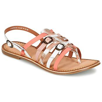 Παπούτσια Γυναίκα Σανδάλια / Πέδιλα Kickers DIXMILLE Silver / Ροζ / Άσπρο