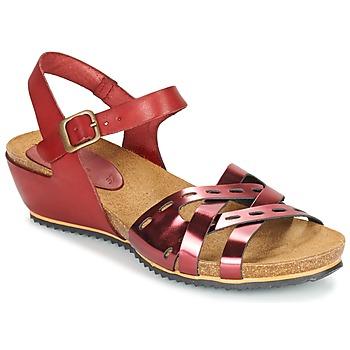 Παπούτσια Γυναίκα Σανδάλια / Πέδιλα Kickers TOKANNE Red / Μεταλικό