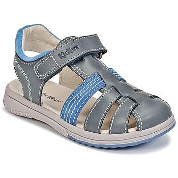 Παπούτσια Αγόρι Σανδάλια / Πέδιλα Kickers PLATINIUM μπλέ / Fonce / μπλέ