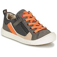 Παπούτσια Αγόρι Χαμηλά Sneakers Kickers ZIGZAGUER Grey / Orange