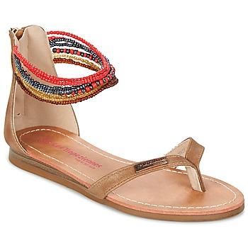 Παπούτσια Κορίτσι Σανδάλια / Πέδιλα Les Tropéziennes par M Belarbi GINKGO Brown