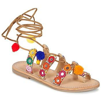 Παπούτσια Γυναίκα Σανδάλια / Πέδιλα Les Tropéziennes par M Belarbi OREA Brown / Multicolore