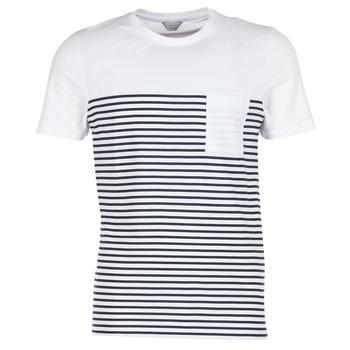 Υφασμάτινα Άνδρας T-shirt με κοντά μανίκια Jack & Jones APRIL CORE Άσπρο / Marine
