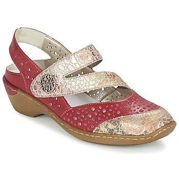 Παπούτσια Γυναίκα Σανδάλια / Πέδιλα Rieker KOLIPEDI Red / Gold