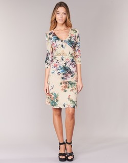 Υφασμάτινα Γυναίκα Κοντά Φορέματα Cream ROSEMARY Multicolore
