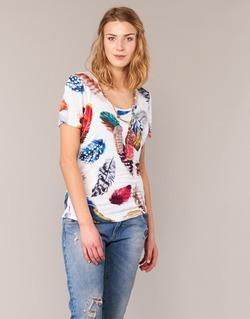 Υφασμάτινα Γυναίκα T-shirt με κοντά μανίκια Derhy JACQUOT άσπρο / Multicolore