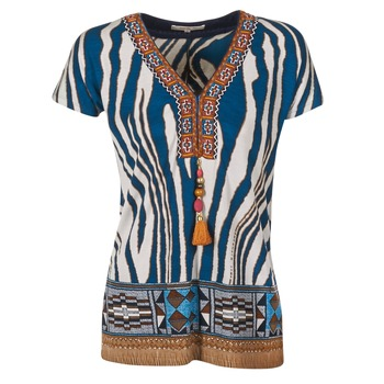 Υφασμάτινα Γυναίκα T-shirt με κοντά μανίκια Derhy JAQUERIE Μπλέ