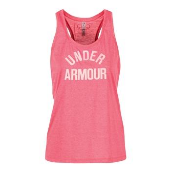 Υφασμάτινα Γυναίκα Αμάνικα / T-shirts χωρίς μανίκια Under Armour THREADBORNET TWIST GRAPHIC Ροζ