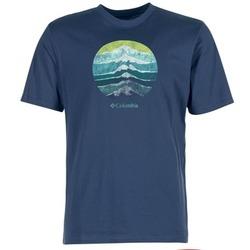 Υφασμάτινα Άνδρας T-shirt με κοντά μανίκια Columbia CSC MOUNTAIN SUNSET Μπλέ