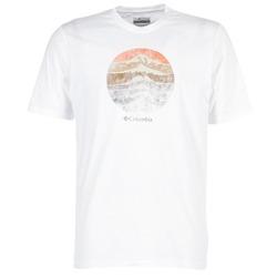 Υφασμάτινα Άνδρας T-shirt με κοντά μανίκια Columbia CSC MOUNTAIN SUNSET Άσπρο