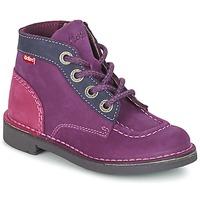 Παπούτσια Κορίτσι Μπότες Kickers KICK COLZ Violet / MARINE / ροζ