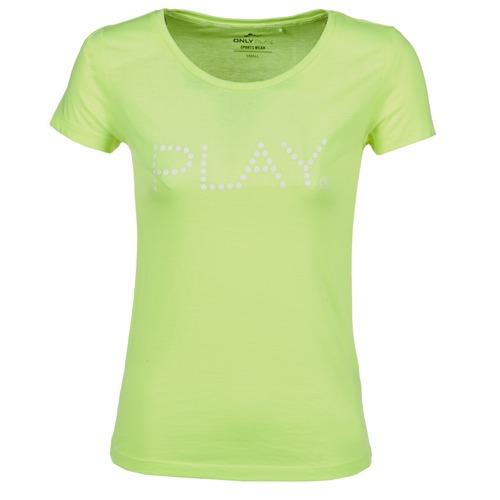 Υφασμάτινα Γυναίκα T-shirt με κοντά μανίκια Only Play BASIC Yellow
