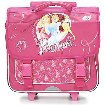 Τσάντες Κορίτσι Σχολικές τσάντες με ροδάκια Disney PRINCESSES CARTABLE TROLLEY 38CM ροζ