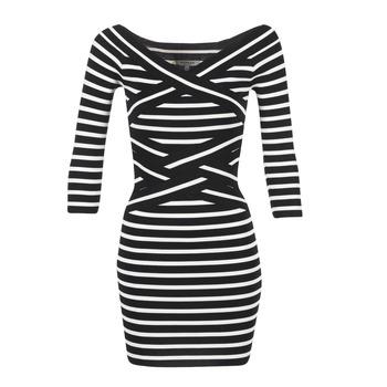Υφασμάτινα Γυναίκα Κοντά Φορέματα Morgan RBEST Black / ECRU