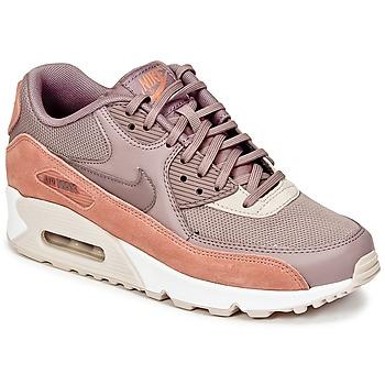 Παπούτσια Γυναίκα Χαμηλά Sneakers Nike AIR MAX 90 W Taupe / Ροζ