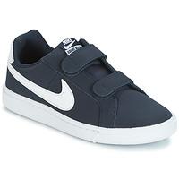 Παπούτσια Αγόρι Χαμηλά Sneakers Nike COURT ROYALE PRESCHOOL Μπλέ / Άσπρο