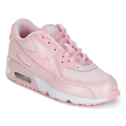 Παπούτσια Κορίτσι Χαμηλά Sneakers Nike AIR MAX 90 MESH SE PRESCHOOL ροζ