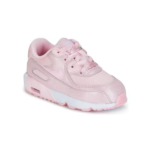 Παπούτσια Κορίτσι Χαμηλά Sneakers Nike AIR MAX 90 MESH SE TODDLER ροζ