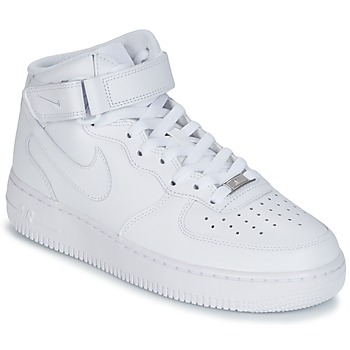 Παπούτσια Άνδρας Ψηλά Sneakers Nike AIR FORCE 1 MID 07 LEATHER Άσπρο