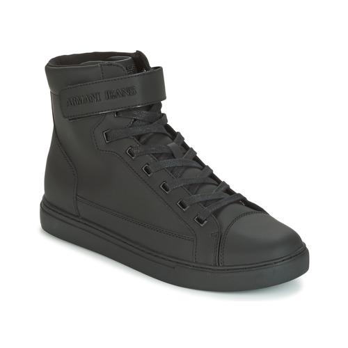 Παπούτσια Άνδρας Ψηλά Sneakers Armani jeans JEFEM Black